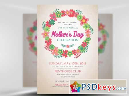mother s day flyer template free download photoshop vector stock