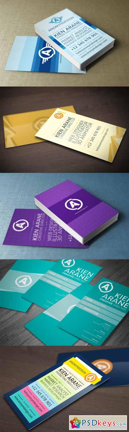 5 Business Card Templates 209216