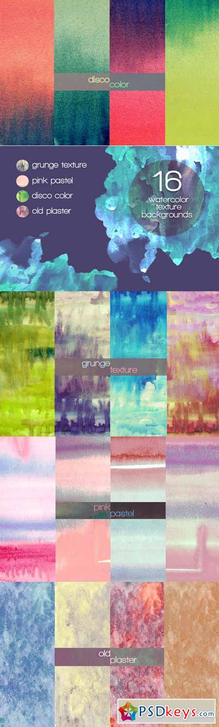16 watercolor texture backgrounds 169308