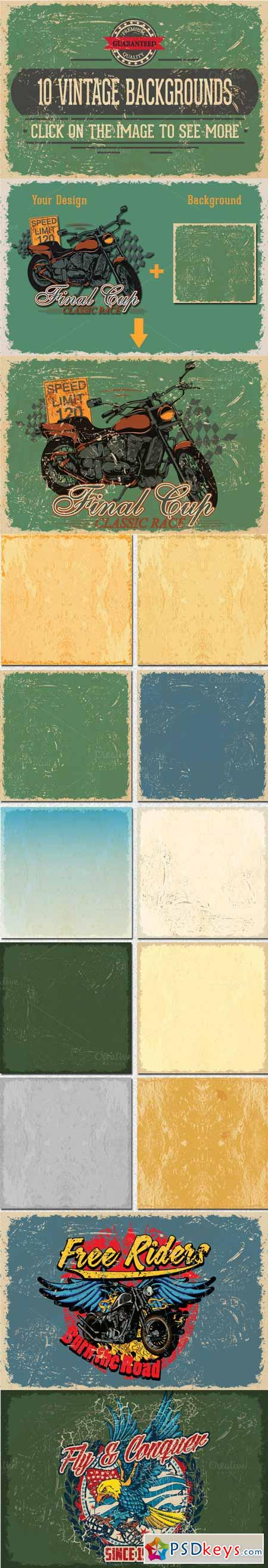 Vintage Vector Background Textures 166676