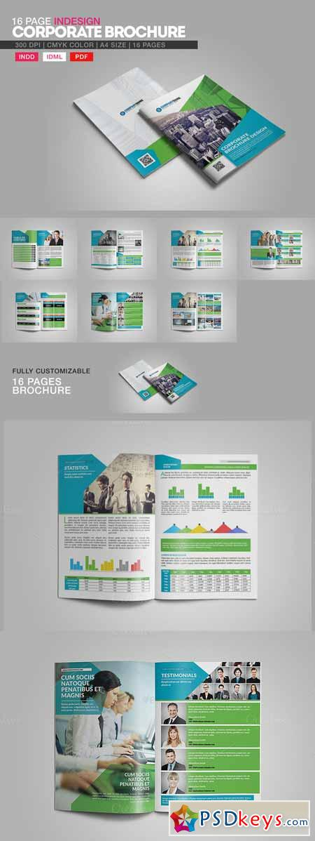 16 Page Indesign Corporate Brochure 216247
