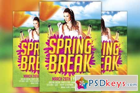 Spring Break Flyer Template 216565