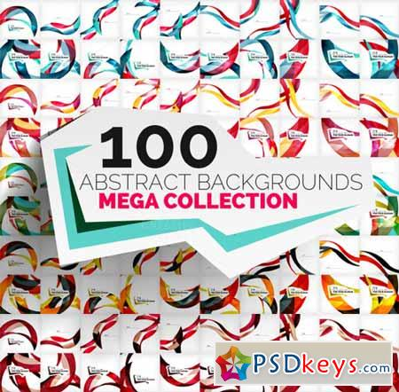 Mega set of 100 wave backgrounds 210938