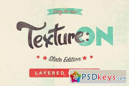 Texture ON - Slate - Layered PSD Kit 105579