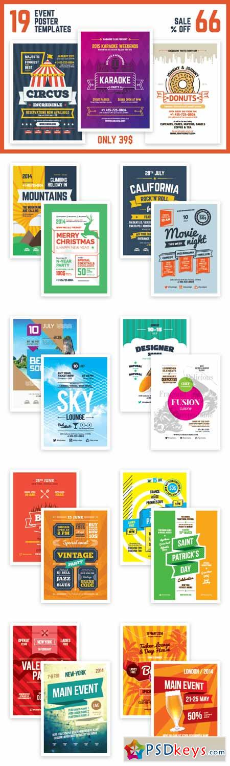 SALE Event Poster Templates Bundle 208076
