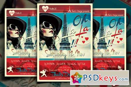 French Party Flyer Template V2 91906 Free Download Photoshop