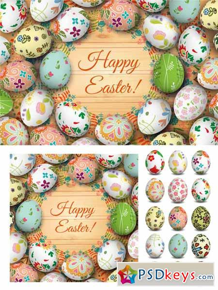 Easter card and eggs 209885