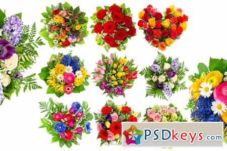 Bouquets of colorful flowers 202984