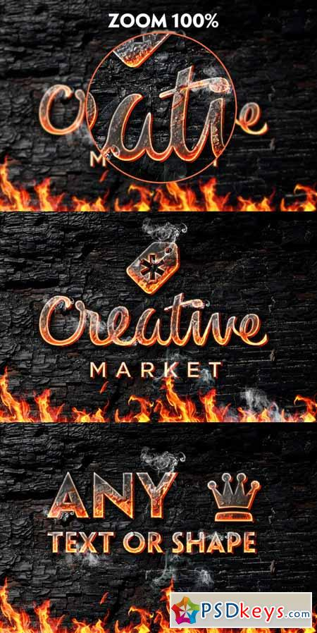 Fire Art Photoshop Style 216897 » Free Download Photoshop Vector