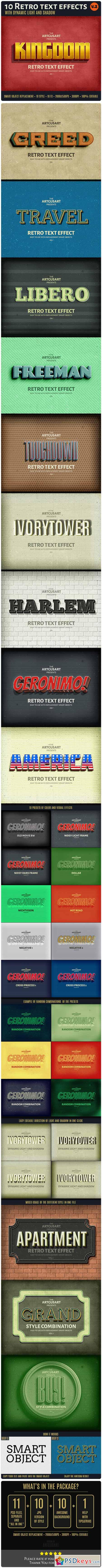 10 Retro Text Effect v.2 10692122