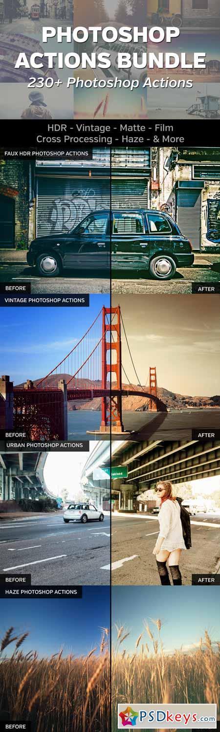 CM 230+ Photoshop Actions Bundle 217178