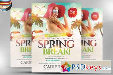 Spring Break Flyer Template 166261