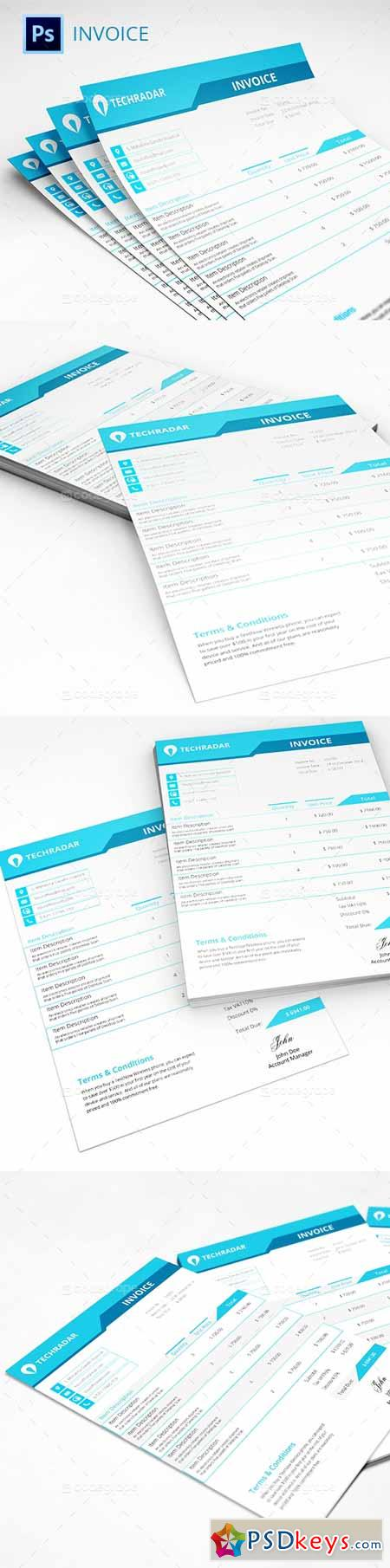 invoice template 5364 » free download photoshop vector stock image, Simple invoice
