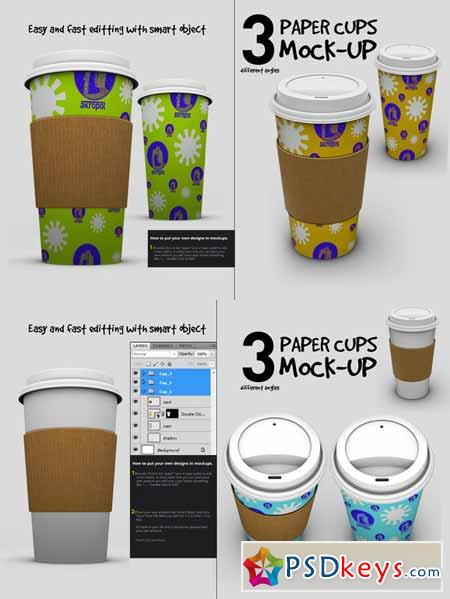 Paper Cups Mock Up 222521