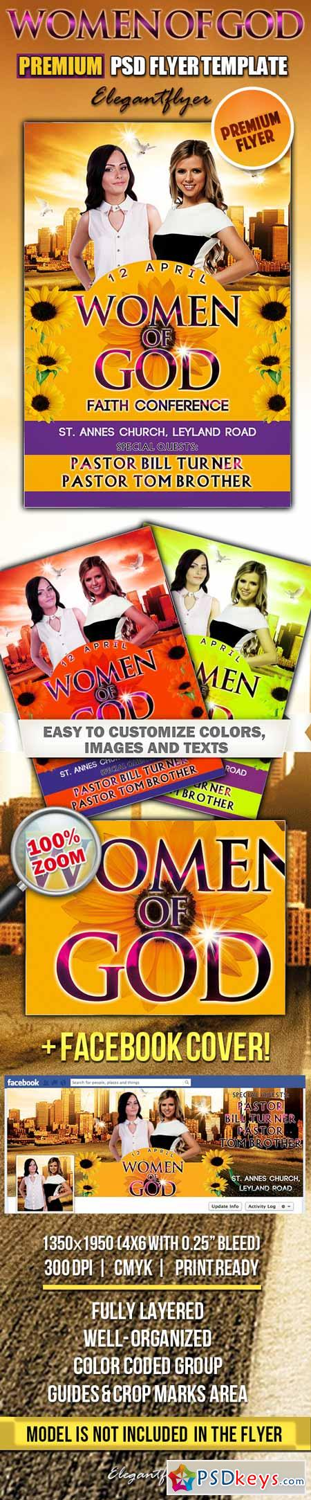 Women of God – PSD Flyer Templates + Facebook Cover