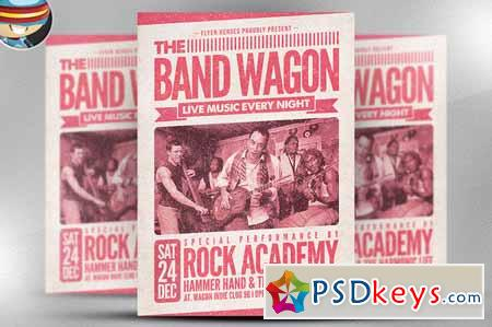 The Band Wagon Flyer Template 126260