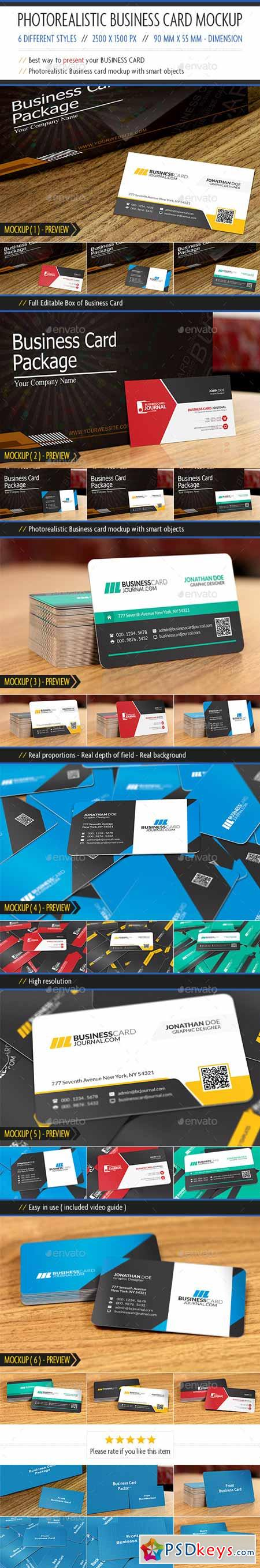 Photorealistic Business Card Mockup 10685263