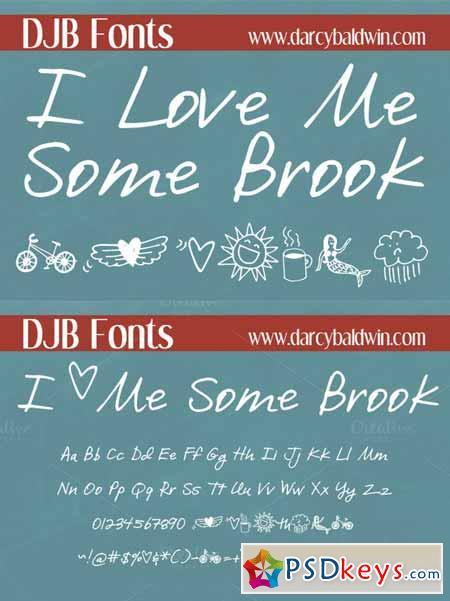 DJB I Love Me Some Brook Font 223580