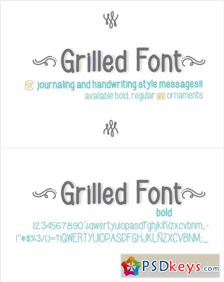 Grilled Font Bold 137511