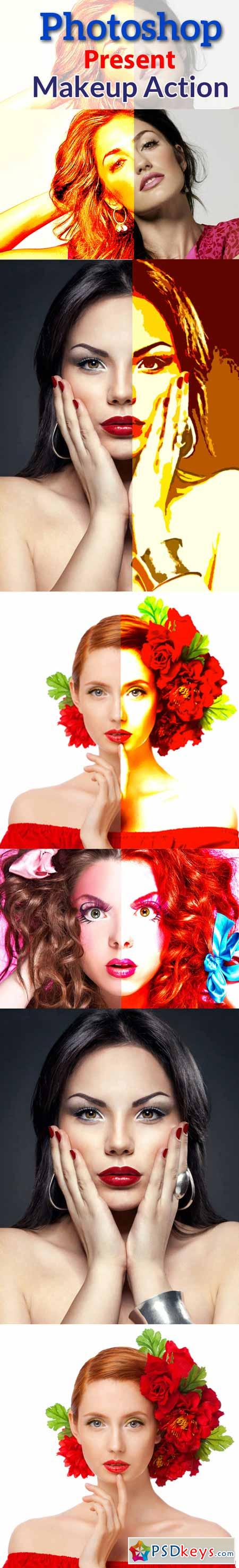 Photoshop Present Makeup Action 5372