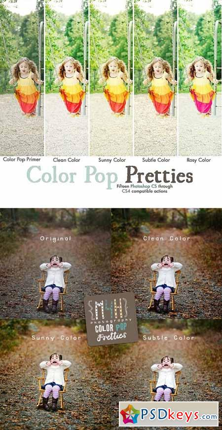 M4H Color Pop Pretties Photoshop Actions