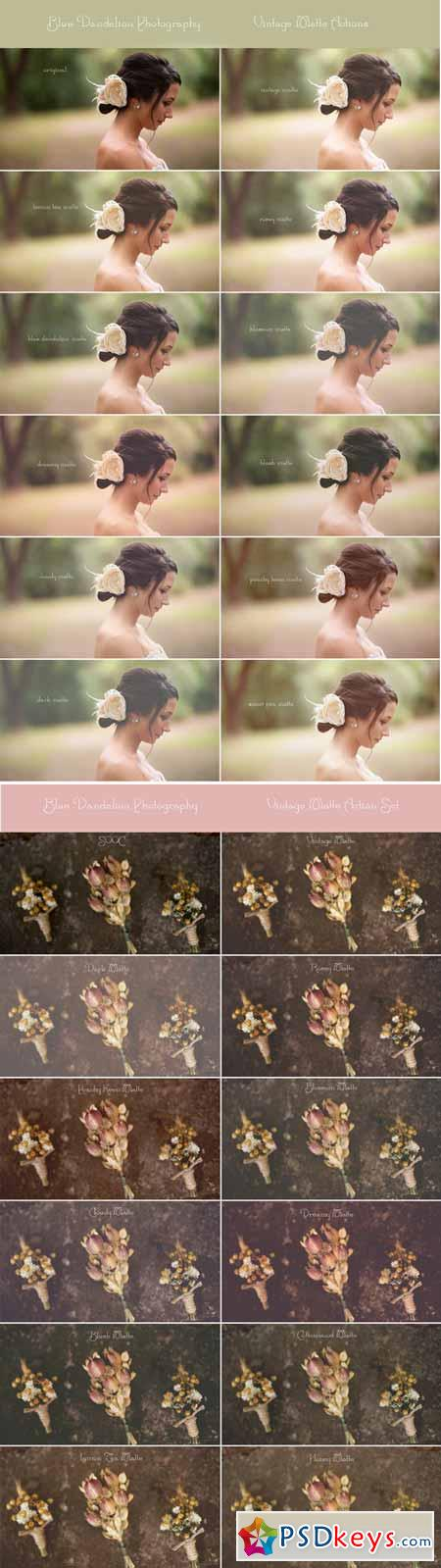 BDP Vintage Matte Action Set for Photoshop