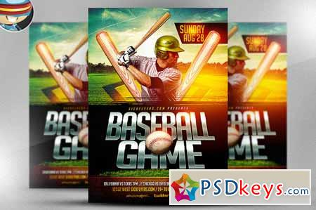 Baseball Flyer Template   Free Download Photoshop Vector Stock