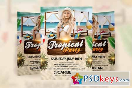 Tropical Party Flyer Template 229434