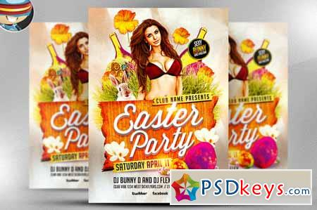Easter Party Flyer Template 24973