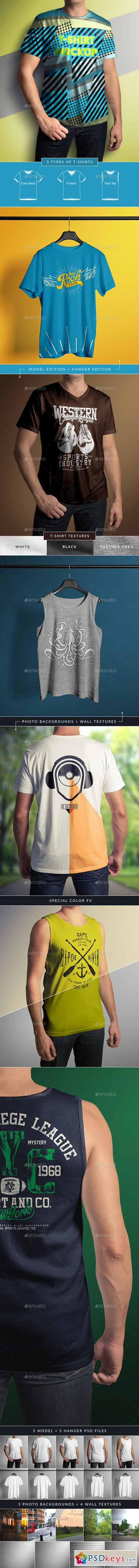 T-Shirt Mock-Up Male Model Classic Edition 9657829