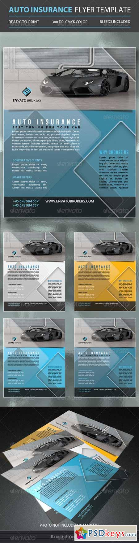 Auto Insurance Flyer Template 5350762