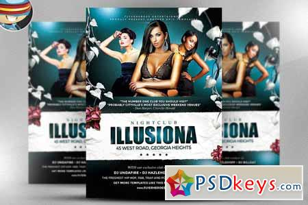 Illusiona PSD Flyer Template 31570