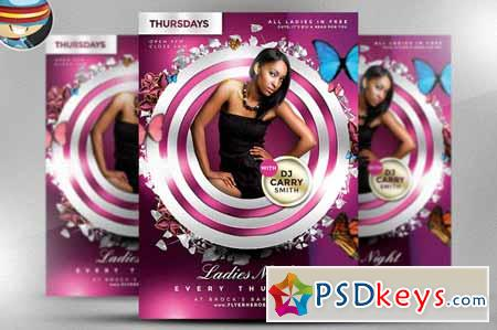Ladies Night PSD Flyer Template 31568