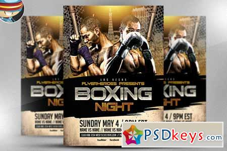 Boxing Night Flyer Template    Free Download Photoshop