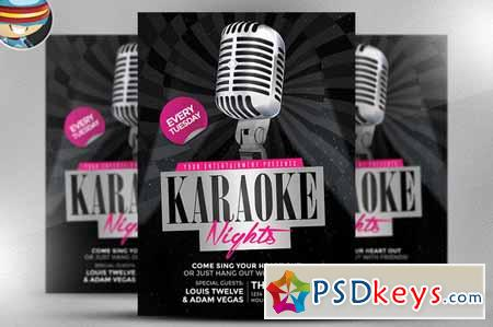 Karaoke Nights Flyer Template    Free Download Photoshop
