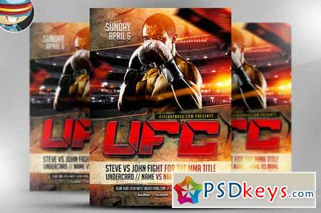 ufc style fight night flyer template 30329 free download photoshop