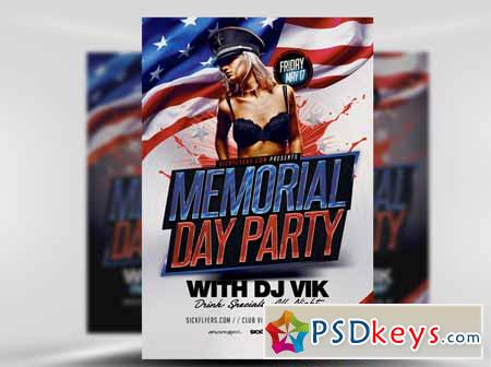 Memorial Day Weekend Flyer Template  Free Download Photoshop