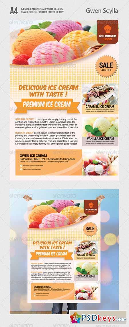 Ice Cream Flyer Templates 5172851 Free Download Photoshop Vector