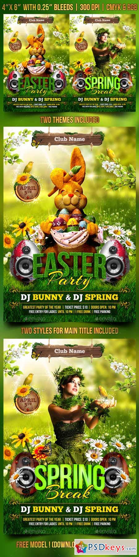 Spring and Easter Flyer Template 10668995