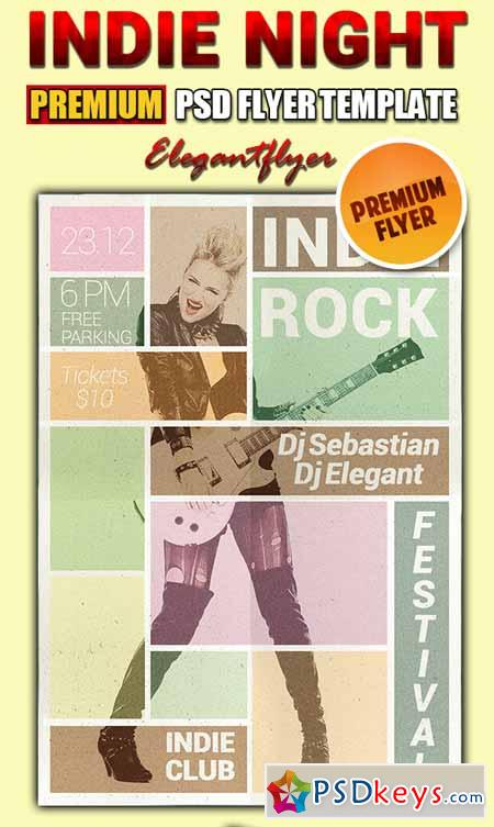 Indie Night – PSD Flyer Templates + Facebook Cover