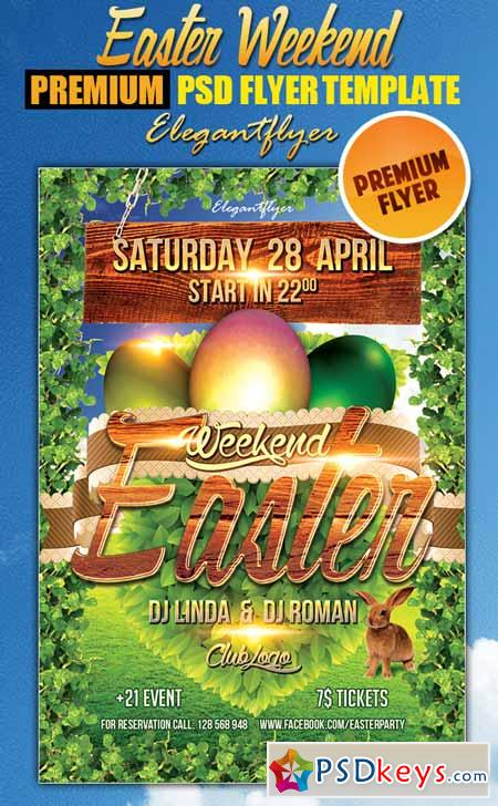 Easter Weekend 2 - Flyer PSD Template + Facebook Cover