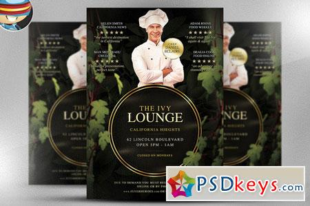 The Ivy Lounge Restaurant PSD Flyer 24658