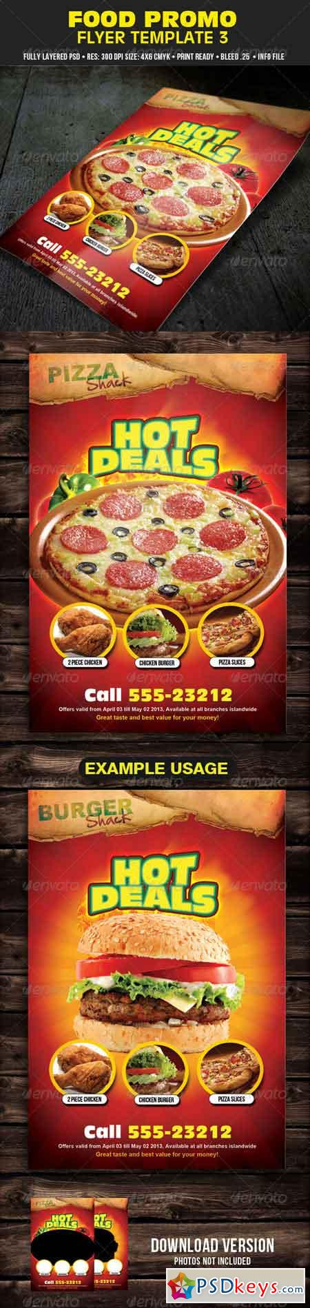 Food Promo Flyer Template 3 4427886