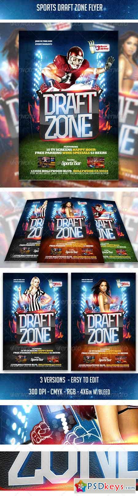 Sports Draft Zone Flyer 5587983