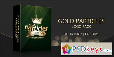 Gold Particles Logo Pack - After Effects Projects