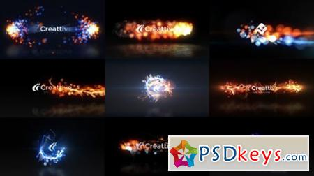 Quick Logo Sting Pack 07 Energetic Particles - After Effects Projects