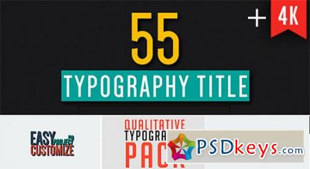55 Qualitative Typography - After Effects Projects