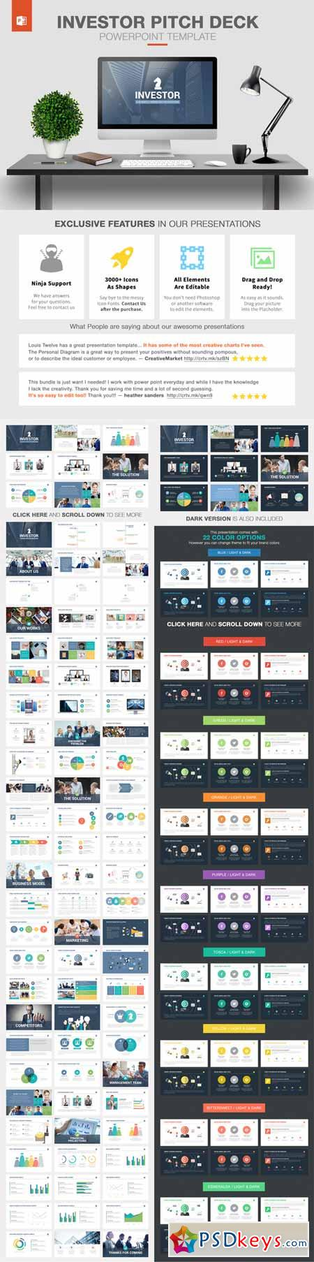 investor pitch deck powerpoint 225853 » free download photoshop, Modern powerpoint