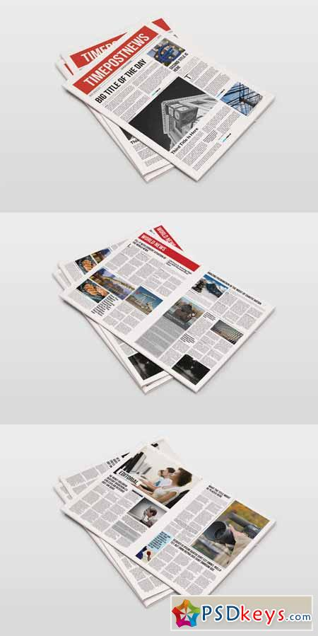 12 Pages Newspaper Template 232221 Free Download Photoshop Vector