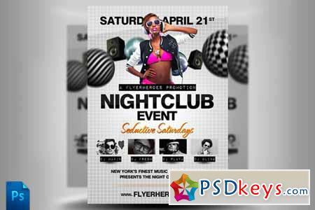 Nightclub Flyer Template 67 Free Download Photoshop Vector Stock
